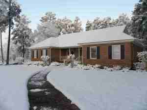 Here is the Griffin House with Snow