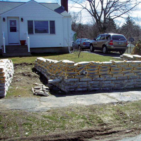 Concrete Sand Bags with a drain....